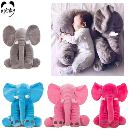 Plush stuffed baby elephant toy pillow