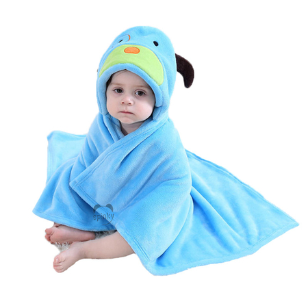 Blue Dog Hooded Baby Blanket