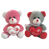 18cm Mini Teddy Bear With Love Heart For Valentines Day