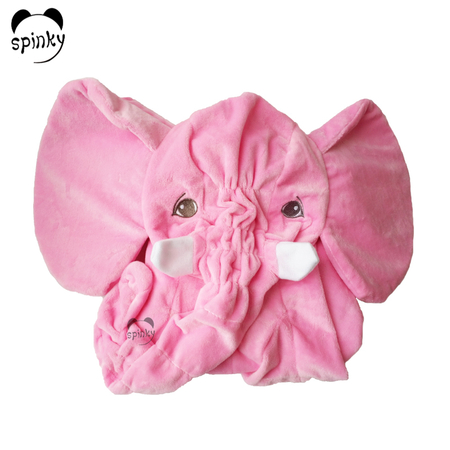 Pink Unstuffed Plush Elephant