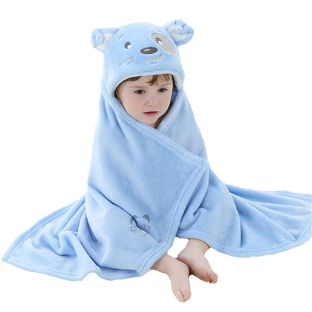 Blue Dog Baby Blanket With Hood