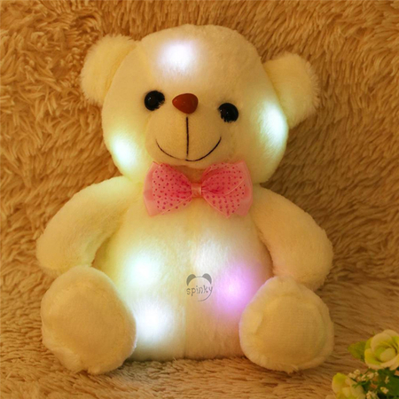 22CM LED light up plush toy teddy bear