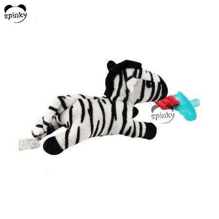 Baby Pacifier With Soft Zebra Toy