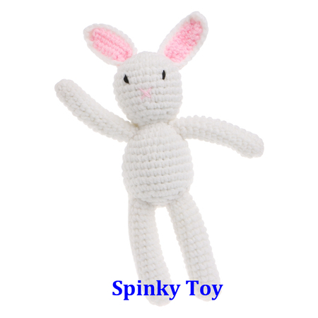 Knit Toy White Rabbit