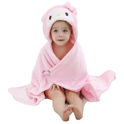 Pink Princess Baby Blanket With Hood