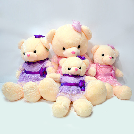 Teddy Bear Plush Toy With Beautiful Dress