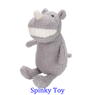 Smiling Toothy Plush Toy - Rhinoceros