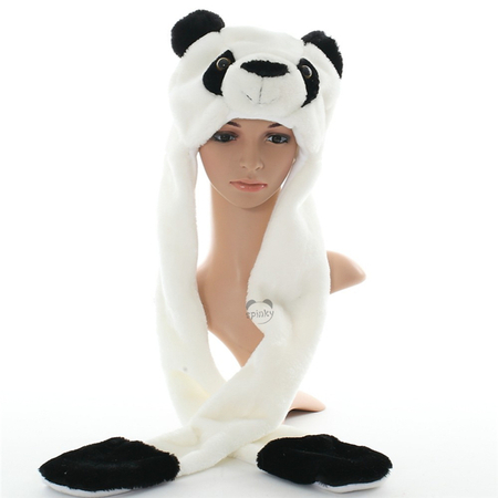 Panda Animal Plush Winter Hat