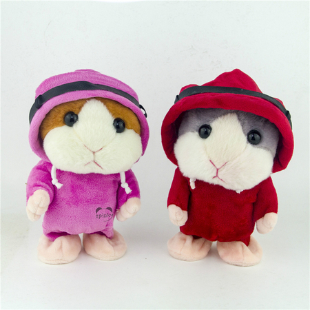 Talking and Walking Hamster Plush Toy