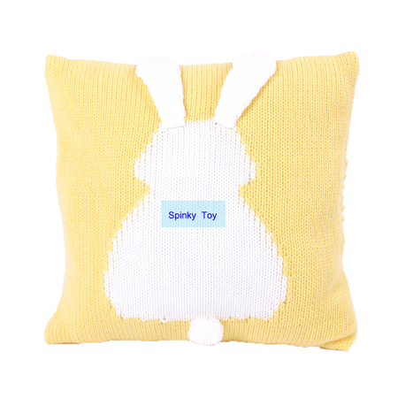 Knit Rabbit Throw Pillow