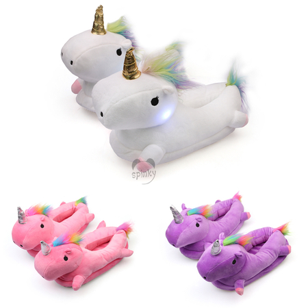 Unicorn Slippers With LED Light