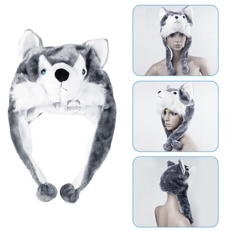 Wolf Animal Plush Hat