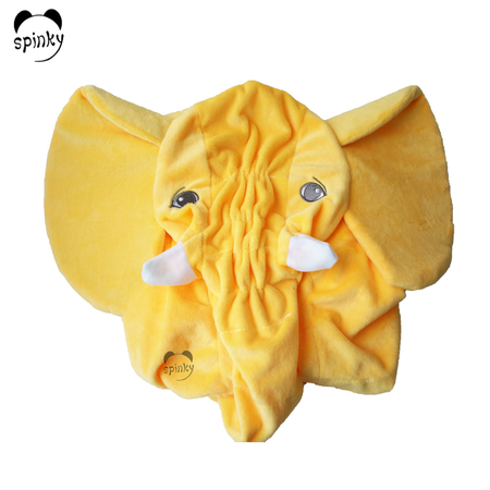 Yellow Unstuffed Plush Elephant Toy