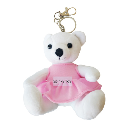 Plush Polar Bear Keychain With Dress