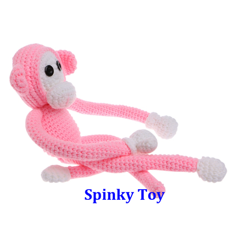 Knit Toy Pink Monkey