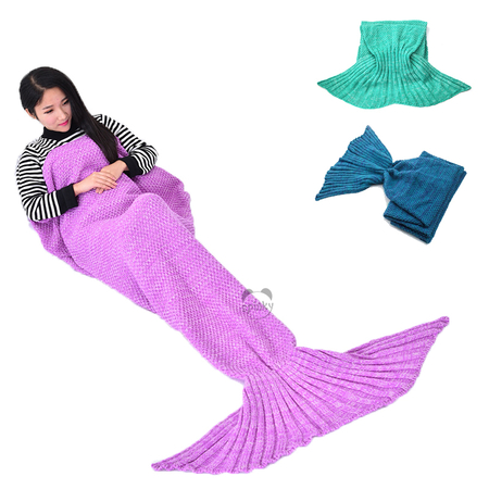 Mermaid Tail Knit Blanket