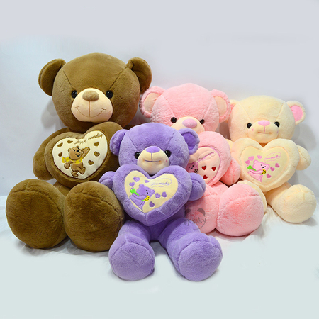 Large Plush Teddy Bear With Love Heart