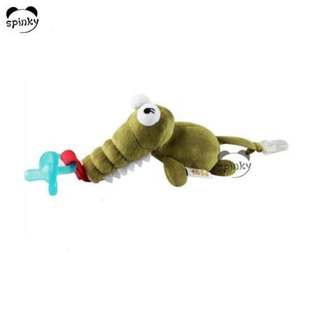 Baby Pacifier With Crocodile Soft Toy