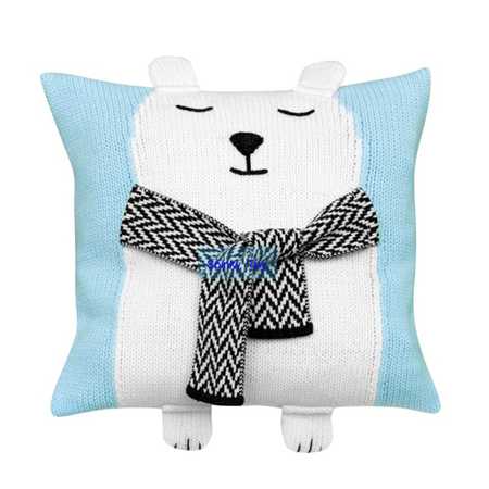 Knit Bear Throw Pillow