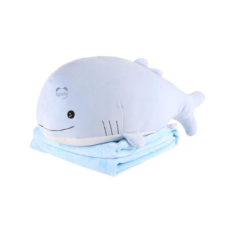 Whale Doll Pillow With Blanket