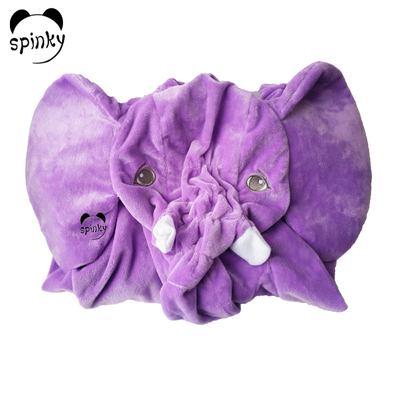 Purple Unstuffed Plush Elephant Toy